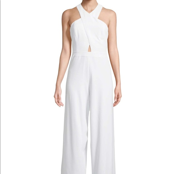 5cc5d0069583 Alice + Olivia Pants - All white jumpsuit by Alice and Olivia.